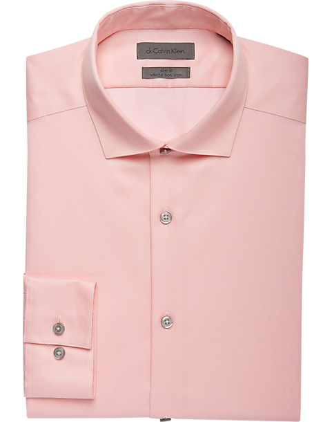 5058b7dd Calvin Klein Infinite Melon Slim Fit Dress Shirt - Mens Home - Men's  Wearhouse