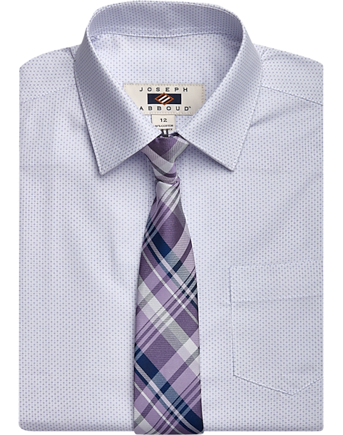 ded4257e542def Kenneth Cole Boys Long Sleeve Dress Shirt and Tie Set Button-Down & Dress  Shirts ...