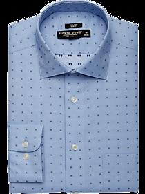 Pronto Uomo Blue Dot Slim Fit Dress Shirt