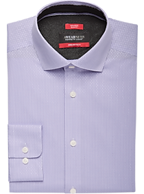 Awearness Kenneth Cole AWEAR-TECH Lavender Stripe Slim Fit Dress Shirt