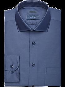 fe91ca29f5aab Joseph Abboud Indigo Blue Woven Dress Shirt
