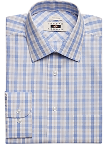 e66c298e Joseph Abboud Light Blue & Taupe Plaid Dress Shirt