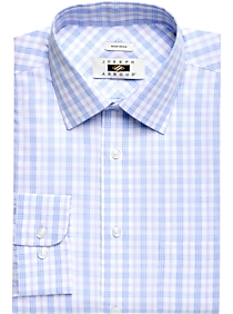 377dc083 Joseph Abboud Light Blue & Lavender Plaid Dress Shirt