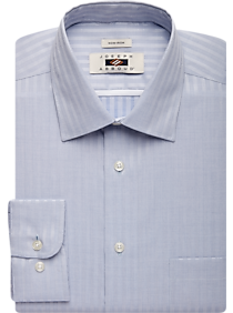 Joseph Abboud Blue Stripe Modern Fit Dress Shirt