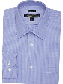 Pronto Uomo Blue Check Dress Shirt (Blue Check)