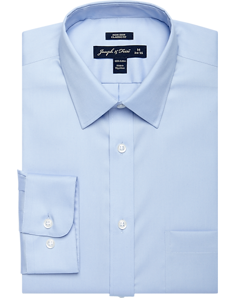 Joseph & Feiss Light Blue Classic Fit Dress Shirt - Men's Classic ...