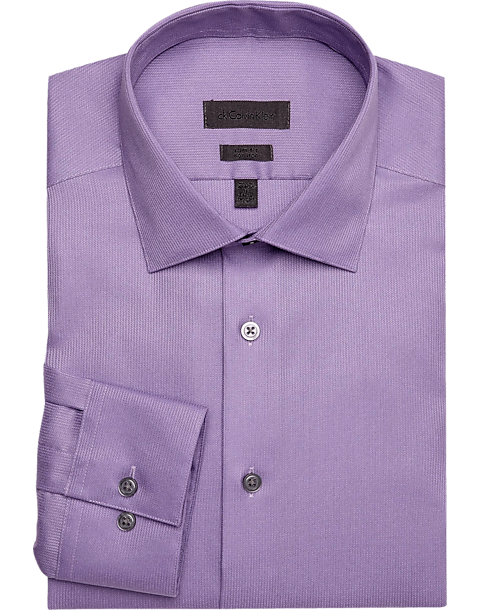 42b831bcc08d Calvin Klein Lavender Corded Slim Fit Non-Iron Dress Shirt - Men's ...