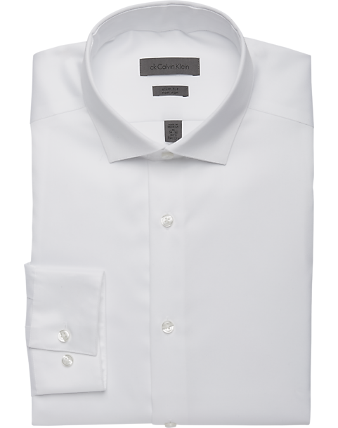 7cc6995ed9f53 Calvin Klein White Slim Fit Dress Shirt - Men s Shirts