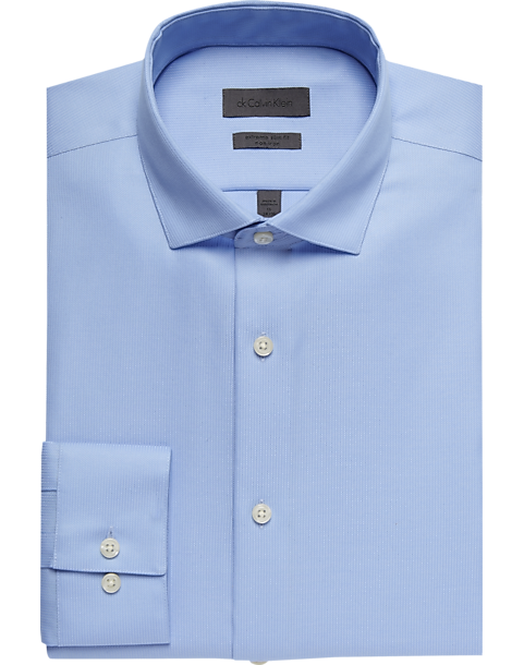 9036c1942c95 Calvin Klein Light Blue Extreme Slim Fit Dress Shirt - Mens Shirts - Men's  Wearhouse