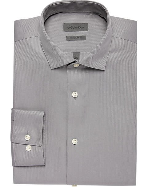 44aa3561a993 Calvin Klein Gray Extreme Slim Fit Dress Shirt - Men's Shirts ...
