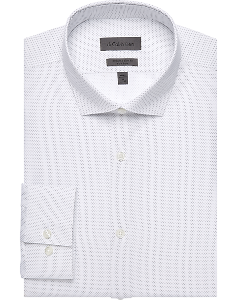 a80cb6e62197 Calvin Klein White Dots Extreme Slim Fit Dress Shirt - Mens Home - Men's  Wearhouse