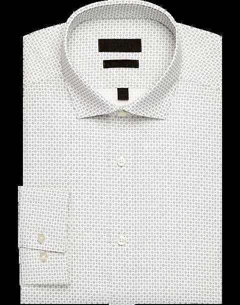 Calvin Klein Black Dot Performance Wicking Slim Fit Dress Shirt