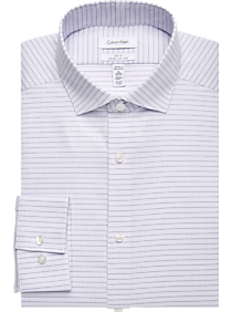 cb2bc7744b Mens Dress Shirts, Shirts - Calvin Klein Infinite Non-Iron Lavender Stripe  Slim Fit