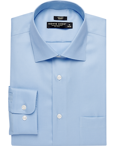 Pronto Uomo Light Blue Slim Fit Queen s Oxford Dress Shirt - Men s ... a9c662c9e