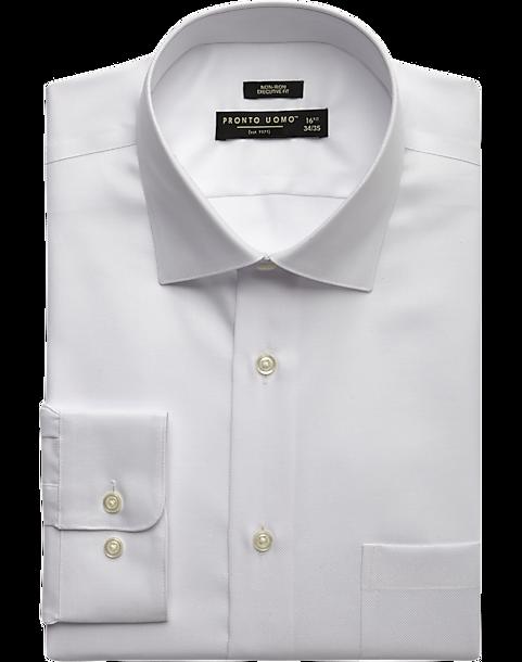 2b98c22a225b Pronto Uomo White Executive Fit Non-Iron Dress Shirt - Men's Shirts ...