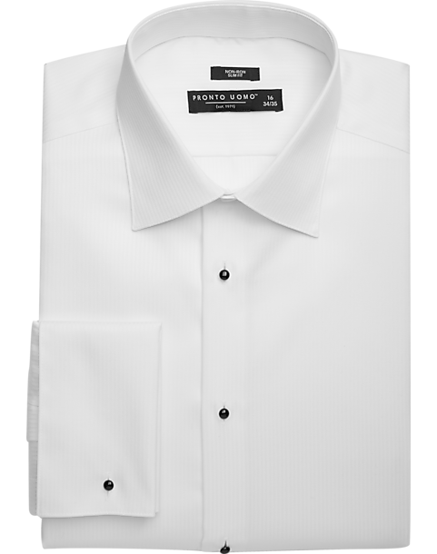 White Non Iron Tuxedo Shirt - Men's Dress Shirts - Pronto Uomo ...
