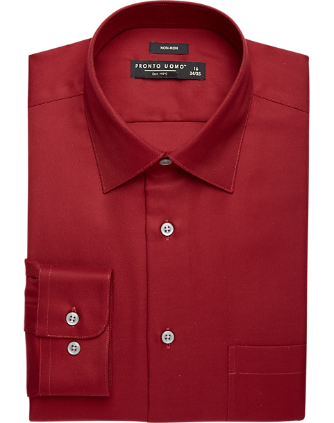 9913b8d59a0 Pronto Uomo Red Dress Shirt