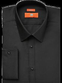 23afe3968d35 Mens Shirts - Egara Orange Black Extreme Slim Fit French Cuff Dress Shirt -  Men s Wearhouse