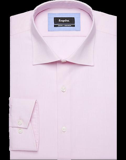 fcd10e737bbd Esquire Pink Slim Fit Dress Shirt - Men s Non-Iron Dress Shirts ...