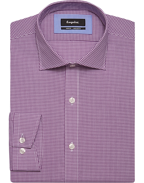 963989565c34 Esquire Pink Check Slim Fit Dress Shirt - Men s Shirts