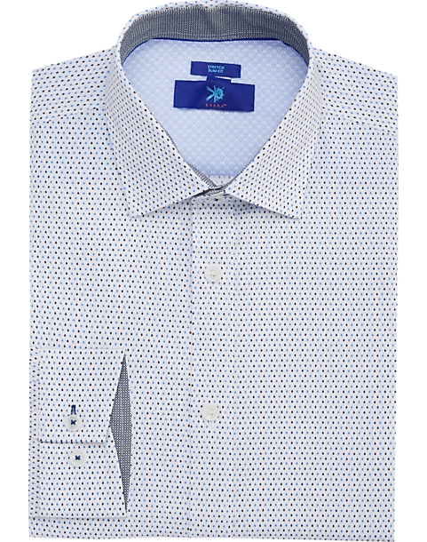 9f90e8772d7 Egara Blue Dot Slim Fit Dress Shirt - Men s Shirts