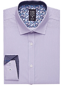 67e141d20e8 Mens Home - Construct Purple Stripe Slim Fit Stretch Dress Shirt - Men s  Wearhouse