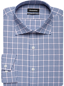 534527cf28e0d4 Mens Home - Esquire Blue   Pink Plaid Slim Fit Dress Shirt - Men s Wearhouse