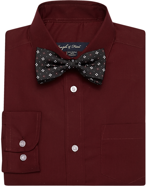 45c300382 Joseph & Feiss Boys Burgundy Shirt & Bow Tie Set - Men's Sale ...