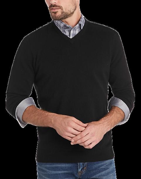 Joseph Abboud Black V-Neck Cashmere Sweater - Mens Home - Men s Wearhouse b03d89d3d