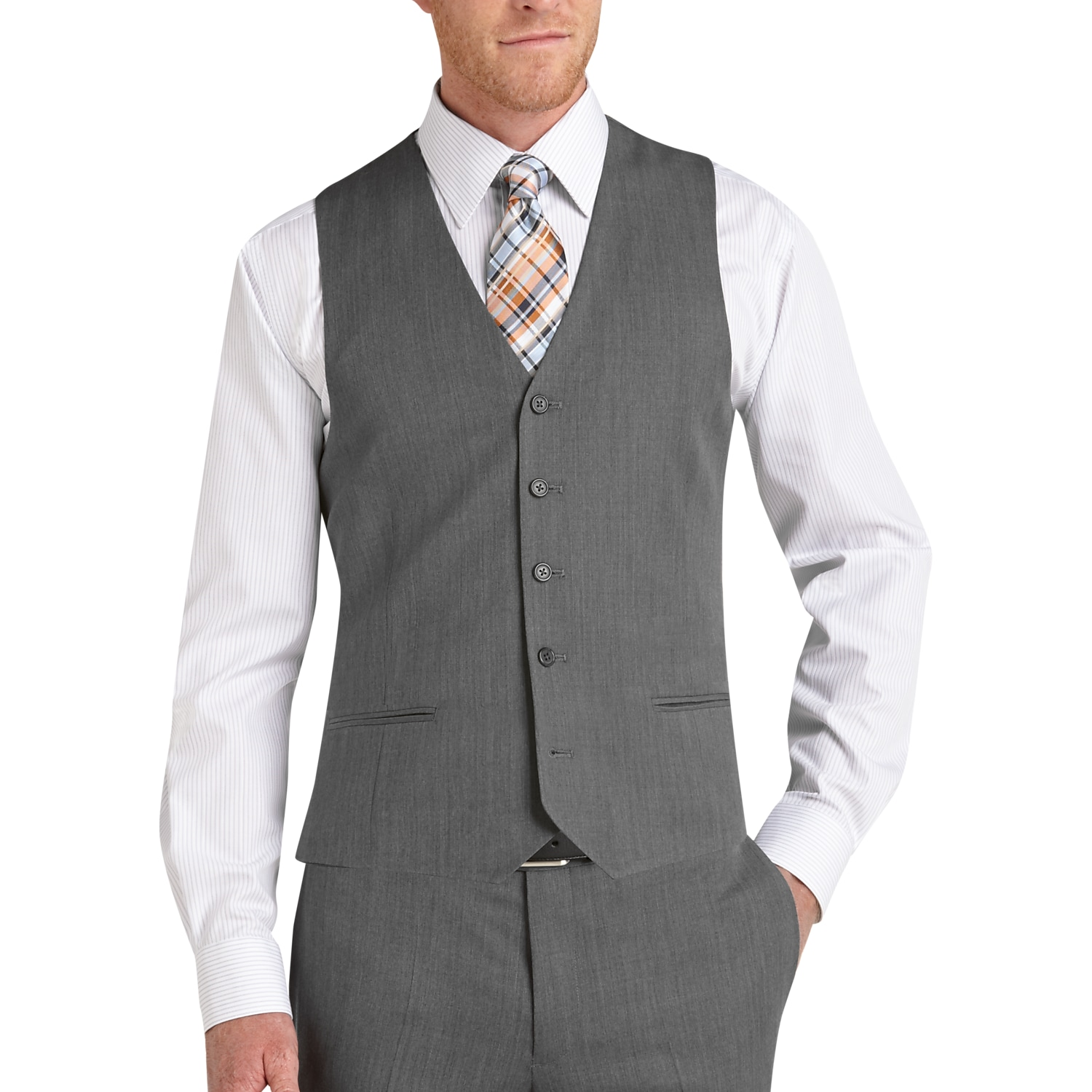 Egara Medium Gray Suit Separates Slim Fit Vest - Men's Suit ...