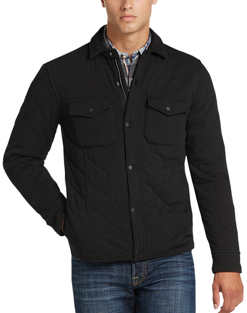 Lucky Brand Black Shirt Jacket - Men's Knits | Men's Wearhouse