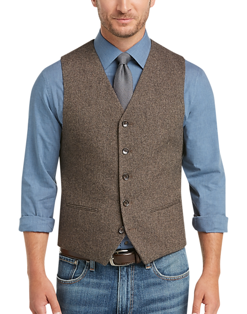 1cbe9a410cc00 Joseph Abboud Brown Diamond Weave Vest - Mens Home - Men s Wearhouse