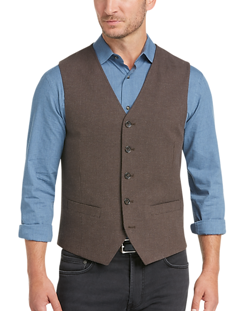c01e10c3fefd3 Joseph Abboud Brown Plaid Vest - Men s Vests