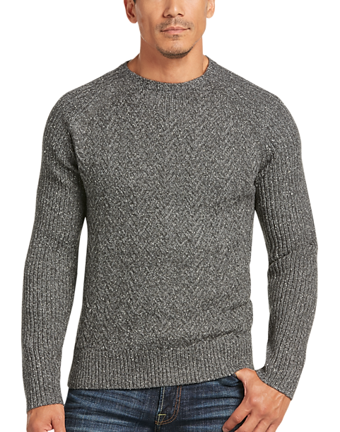 498d25f3af Joseph Abboud Charcoal Crew Neck Sweater - Mens Home - Men s Wearhouse