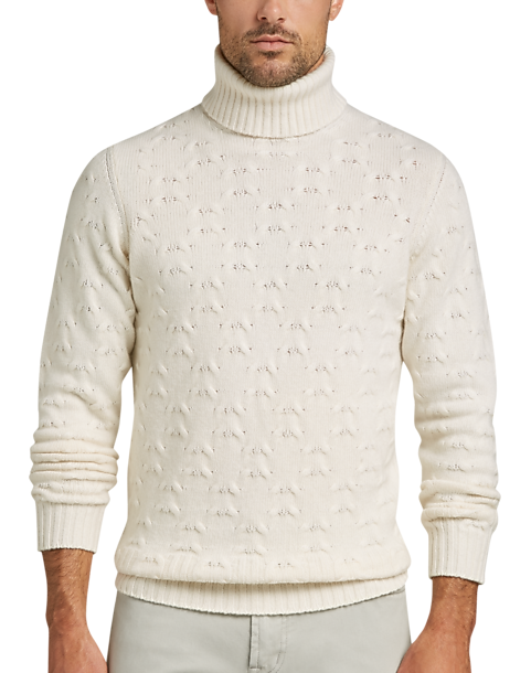 7eac44fb679 Joseph Abboud Winter White Turtleneck Cashmere-Blend Sweater - Men s ...