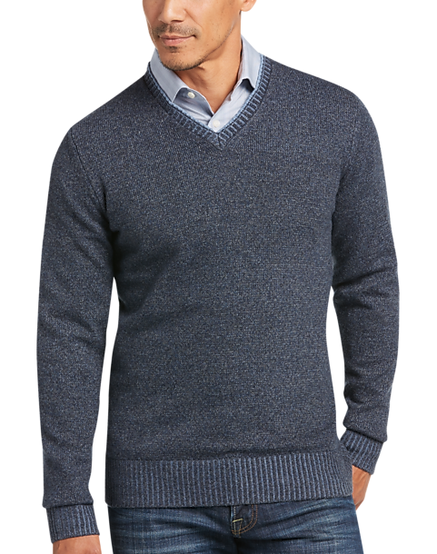 b8fe623008d1aa Joseph Abboud Indigo V-Neck Sweater - Men's Sale | Men's Wearhouse