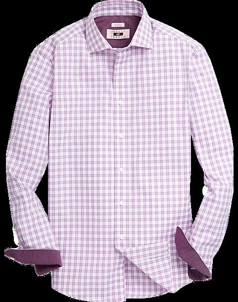 Joseph abboud rose windowpane plaid sport shirt men 39 s for Joseph abboud dress shirt