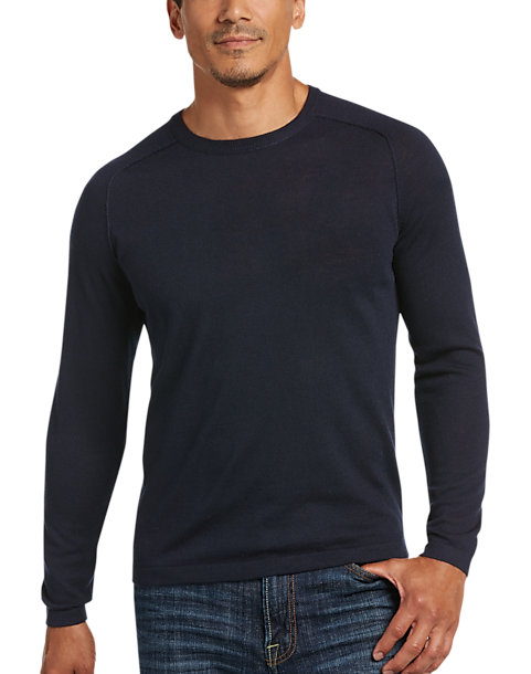 JOE Joseph Abboud Navy Raglan Crew Neck Sweater - Men's Sweaters ...