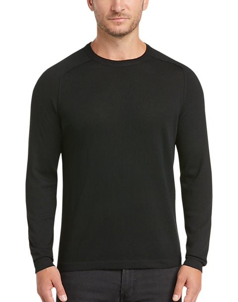 24d5a3ef1f66d JOE Joseph Abboud Black Raglan Crew Neck Sweater - Men's Sale ...