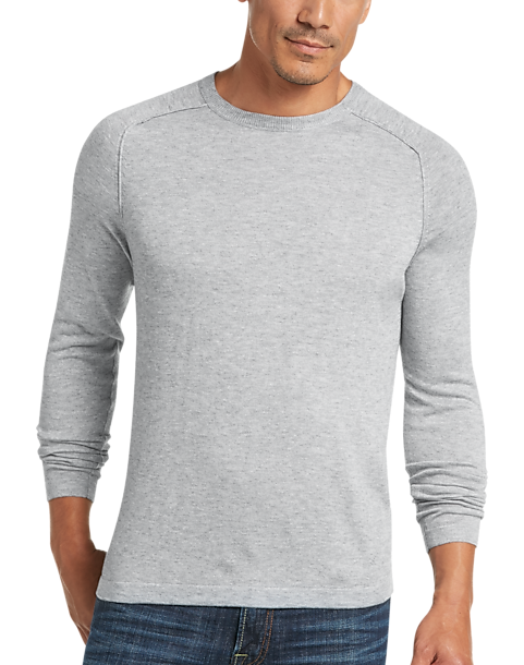 54c53d8ac4 JOE Joseph Abboud Light Gray Raglan Crew Neck Sweater - Men's Sale   Men's  Wearhouse