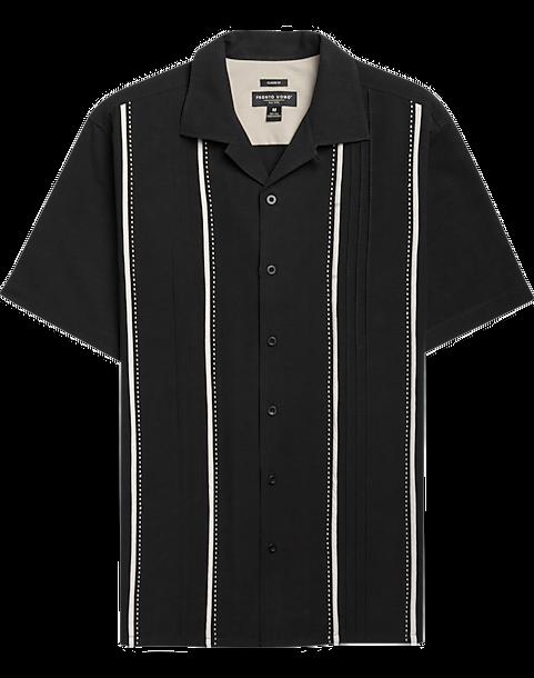 638a99997f1a Pronto Uomo Black   White Camp Shirt - Men s Camp Shirts