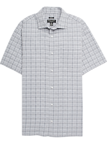 d67cd562 Mens Casual Shirts, Clearance - Pronto Uomo Black & Gray Plaid Camp Shirt -  Men's