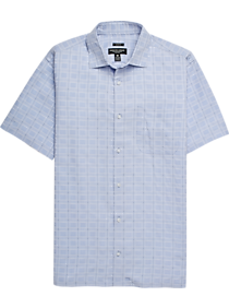 ea4a09ea8ba9 Pronto Uomo Light Blue Plaid Camp Shirt