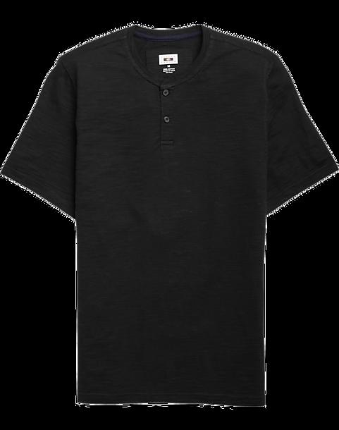 ff01b3b99 Joseph Abboud Black Short Sleeve Henley Shirt - Men's Shirts | Men's ...