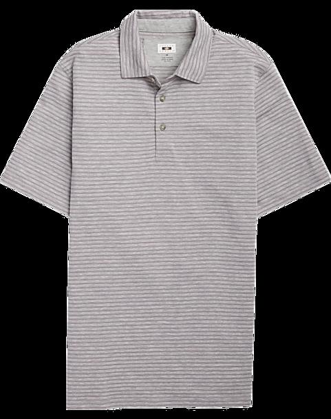09bfb9658 Joseph Abboud Light Gray Stripe Polo Shirt - Mens Shirts - Men's Wearhouse