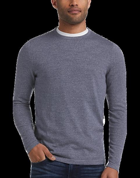 JOE Joseph Abboud Blue Crew-Neck Sweater (Blue)