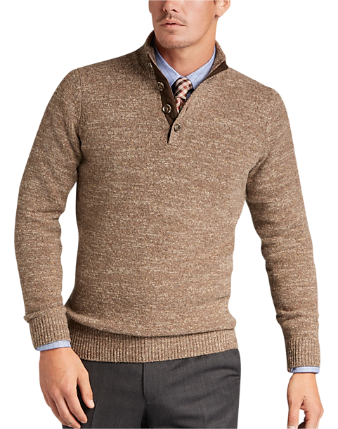 Joseph Abboud Rust Mock Neck Sweater - Men's Sweaters | Men's ...