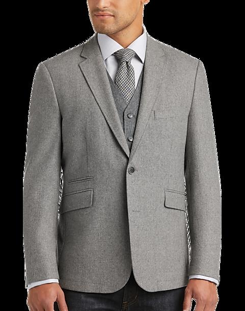 Joseph Abboud Light Gray Casual Coat - Men's Casual Coats | Men's ...