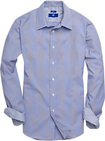 4c842d752278 Egara Blue   Brown Mini Check Sport Shirt