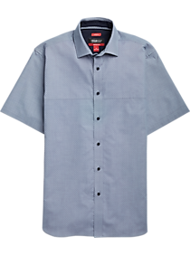 42ff999e Mens Casual Shirts, Clearance - Kenneth Cole Awearness AWEAR-TECH Blue Mini  Check Short